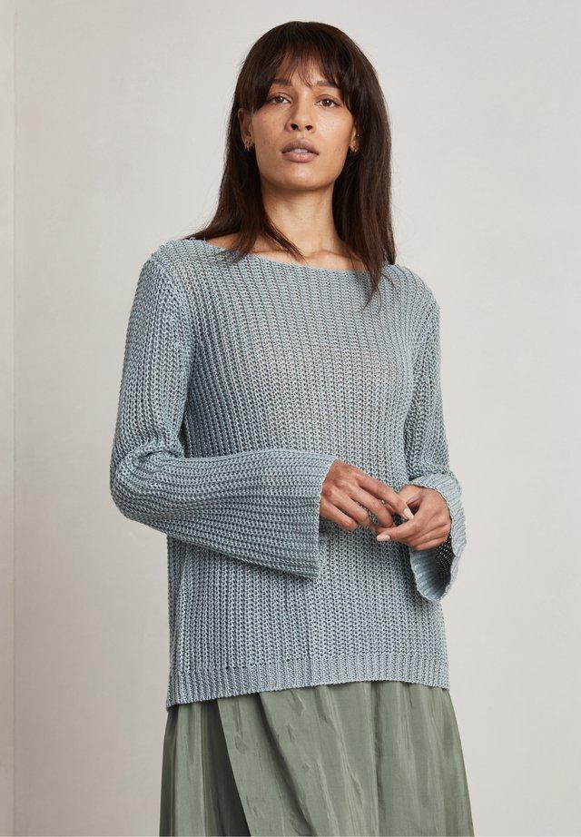 HILDA - Stickad tröja - grey