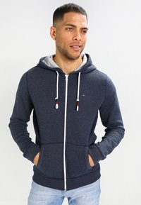 Tommy Jeans - ORIGINAL ZIPTHRU - Zip-up hoodie - black iris - 0
