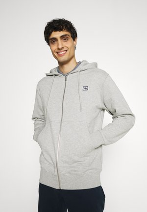 SLHCOREY HOOD ZIP - Zip-up hoodie - light grey melange