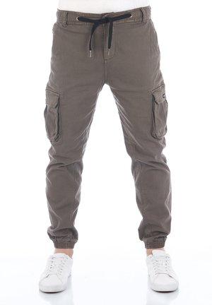 RIVHANNO - Cargo trousers - dark green