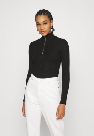 BEATA ZIP - Jumper - black