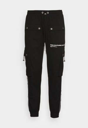 DEFINITION PIPED PANT - Cargo trousers - black