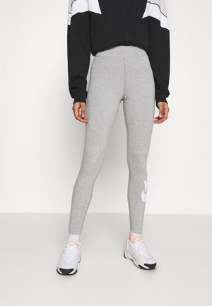 FUTURA - Leggings - Trousers - dk grey heather/white