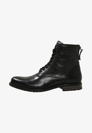 DELERIUS - Lace-up ankle boots - black