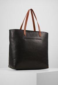 Madewell - ZIP TOP TRANSPORT TOTE - Tote bag - true black/brown - 3