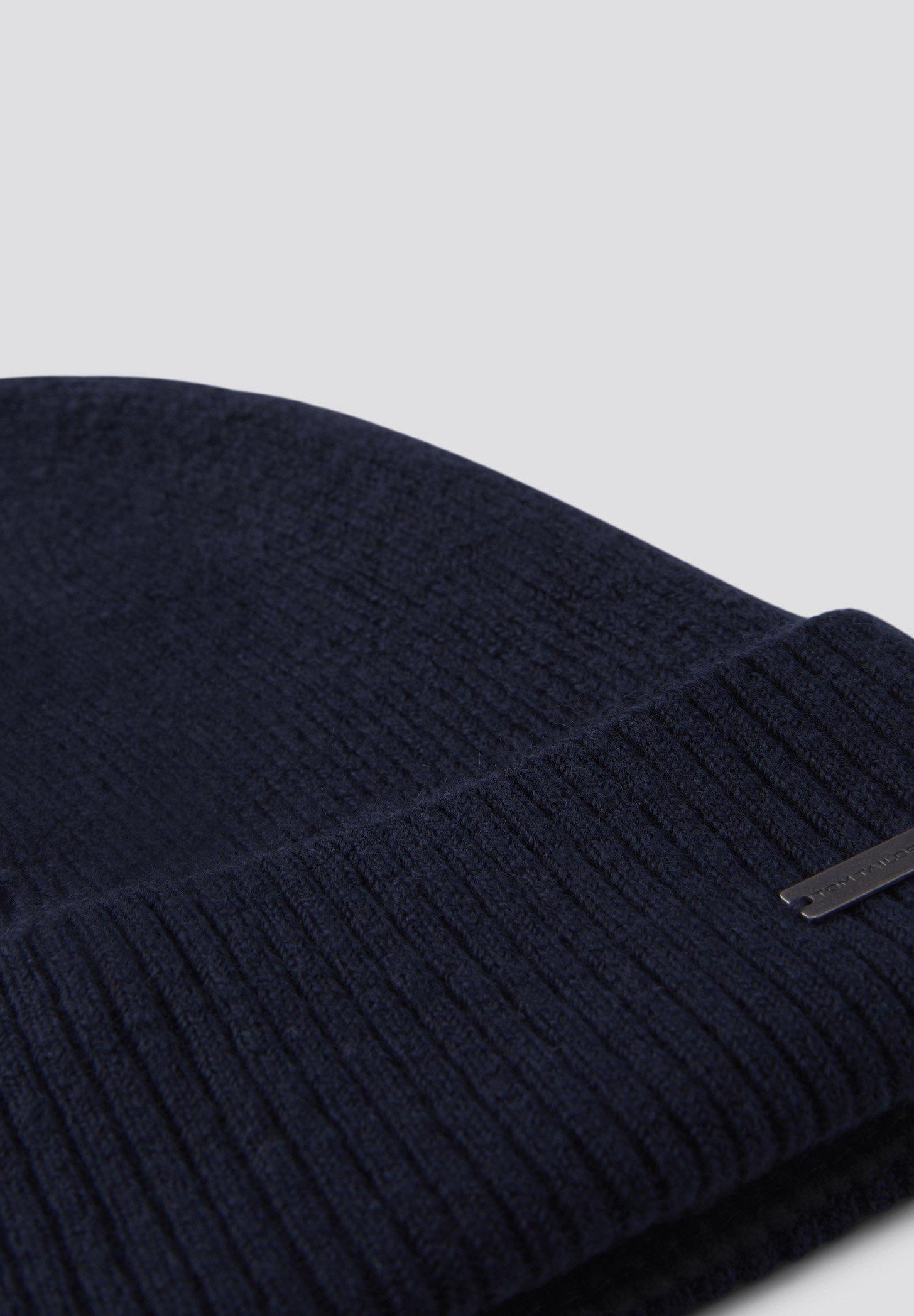 Tom Tailor Accessoire Weiche - Mütze Sky Captain Blue Non-solid/dunkelblau