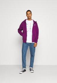 Nike Sportswear - CLUB HOODIE - Zip-up sweatshirt - viotech/viotech/white - 1