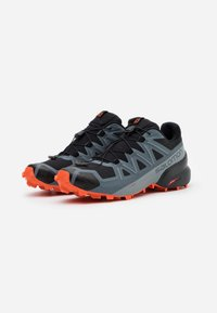 Salomon - SPEEDCROSS 5 - Scarpe da trail running - black/stormy weather/red orange - 1