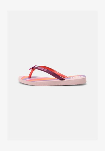 GLITTER COLOR - T-bar sandals - candy pink