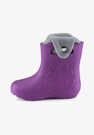 Bottes en caoutchouc - purple/grey