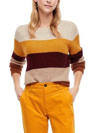 MIT BLOCKSTREIFEN - Jumper - yellow stripes