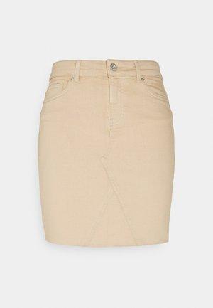 ONLFAN LIFE SKIRT  - Mini skirt - humus
