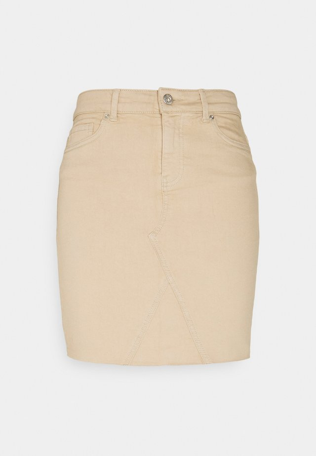 ONLFAN LIFE SKIRT  - Minifalda - humus