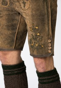 Stockerpoint - WIGGAL - Leather trousers - beige - 6