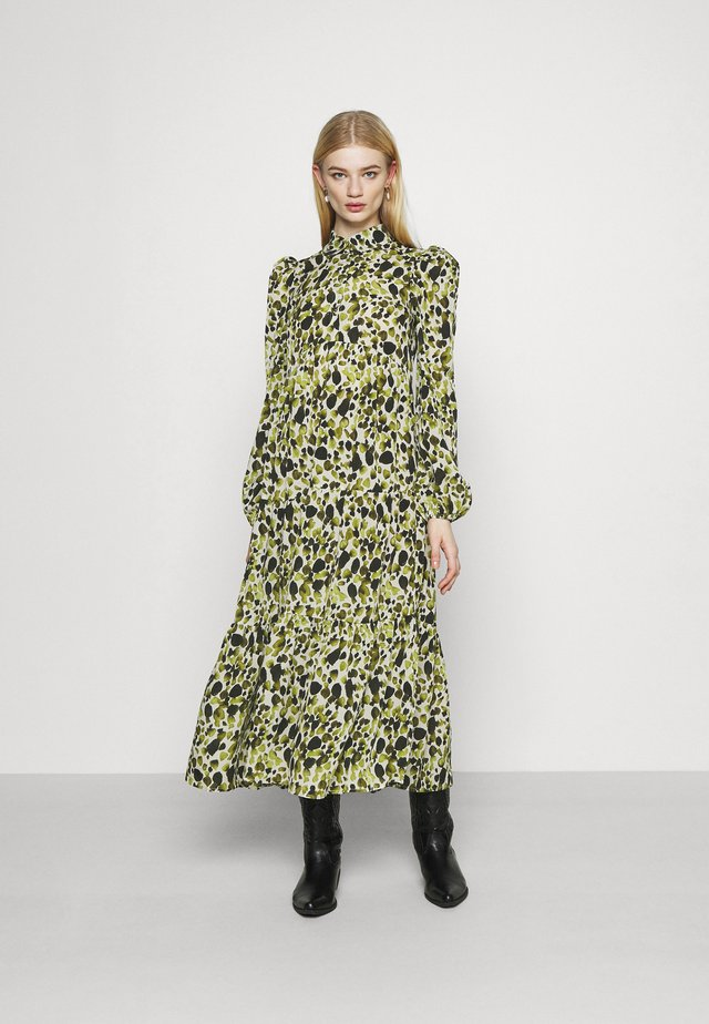 LEAF PANEL DRESS - Shirt dress - green