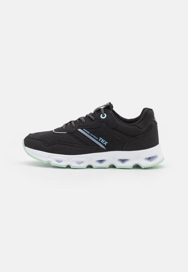 Sneakersy niskie - schwarz/hellgrün
