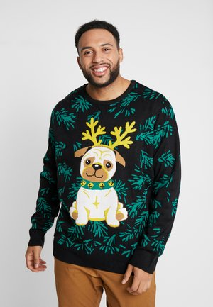 PUG CHRISTMAS SWEATER - Jumper - black