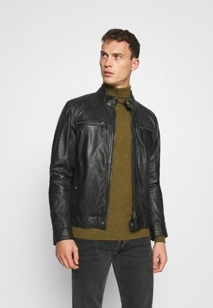 GILLES - Leather jacket - noir