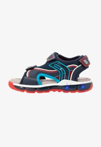 Geox - BOY - Walking sandals - navy/red - 1