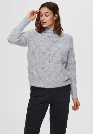 DIAMANTMUSTER - Pullover - light grey melange