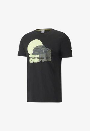 PORSCHE LEGACY GRAPHIC TEE MAND - Print T-shirt - puma black