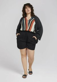 MY TRUE ME TOM TAILOR - BLOUSE WITH SLANTED PLACKET - Print T-shirt - multicolor sahara - 1