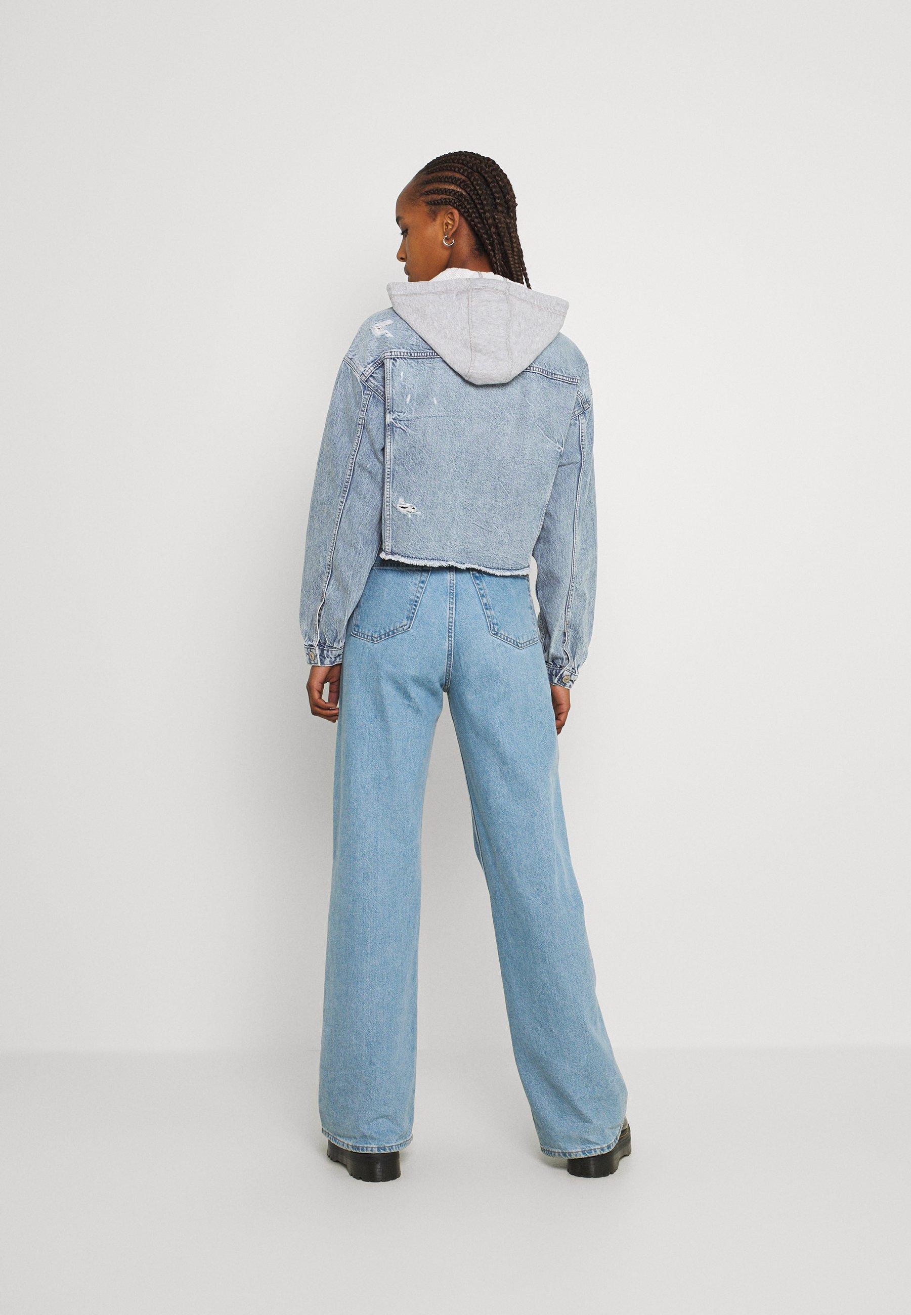 Women HOODIE TRUCKER JACKET - Denim jacket