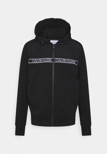 MIX MEDIA TAPE HOODED JACKET - Zip-up sweatshirt - black