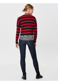 ONLY - Jumper - berry/black - 2