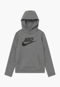 Nike Sportswear - CLUB - Bluza z kapturem - carbon heather/black - 0