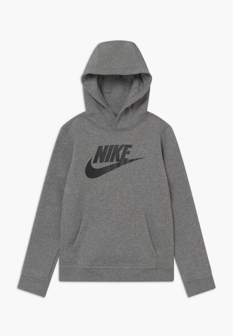 Nike Sportswear - CLUB - Bluza z kapturem - carbon heather/black