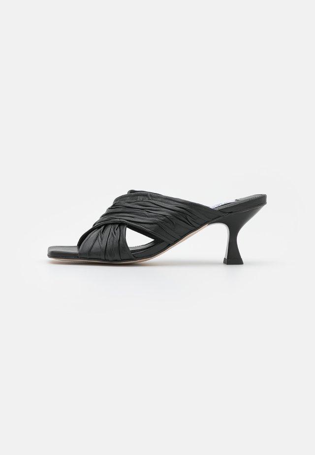 CELESTE - Heeled mules - black