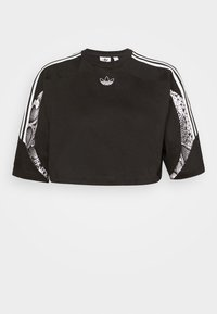 adidas Originals - CROPPED TEE - Print T-shirt - black