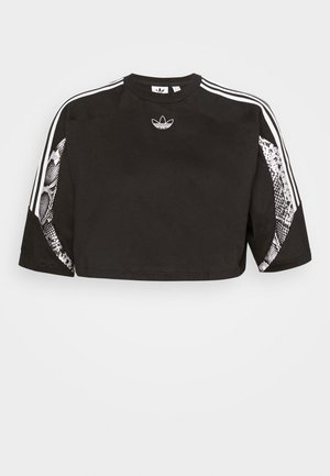 CROPPED TEE - T-Shirt print - black