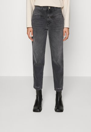 PEDAL PUSHER - Straight leg jeans - mid grey