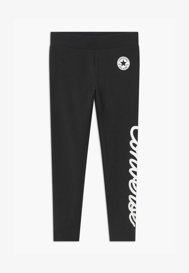 SIGNATURE CHUCK - Leggings - black