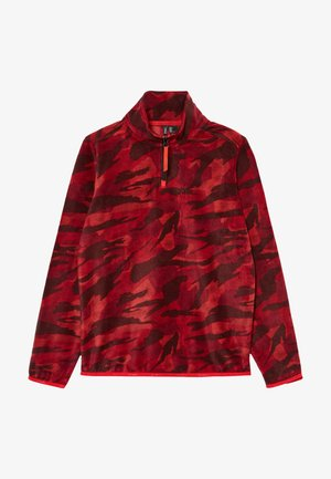 Fleece jumper - red aop