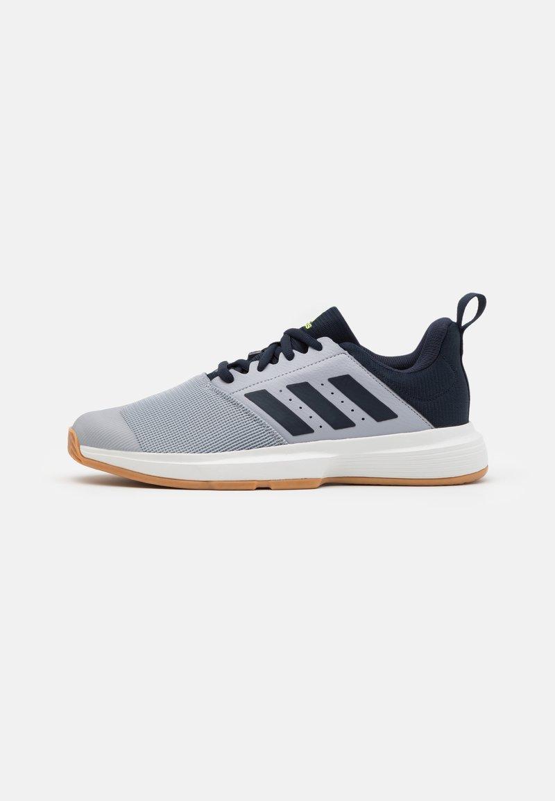 adidas Performance - ESSENCE - Handball shoes - half silver/legend ink/hi-res yellow
