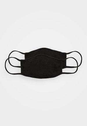 2 PACK - Maschera in tessuto - black