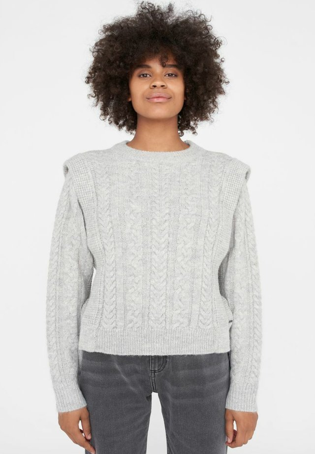 NMEMBER ONECK  - Sweter - light grey melange