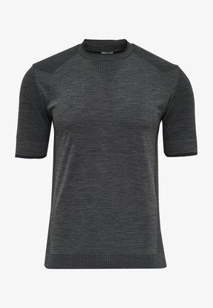 T-shirt print - black melange
