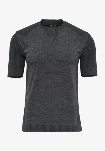 T-shirt imprimé - black melange