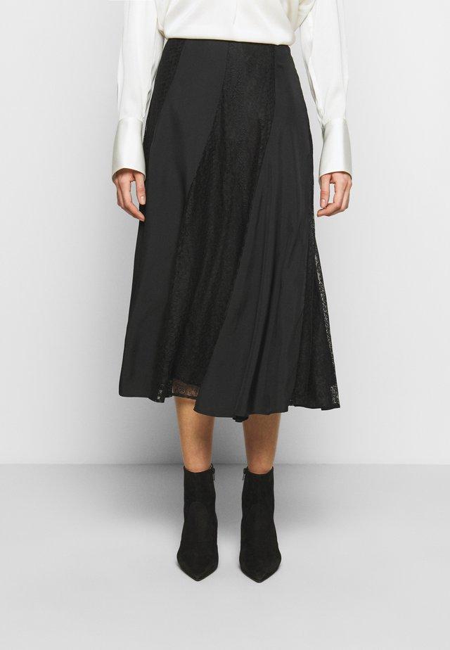 STELMA - Áčková sukně - black