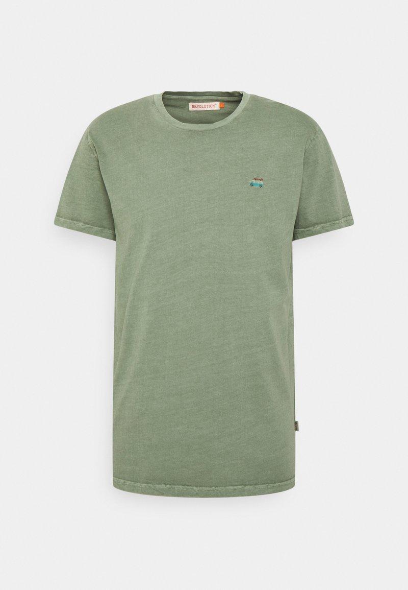 REVOLUTION - REGULAR - Basic T-shirt - army