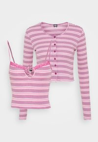 BDG Urban Outfitters - STRIPED CARDIGAN SET - Cardigan - pink - 0