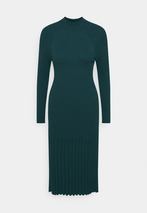 MOCKNECK - Jumper dress - loch green