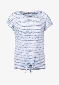 Street One - MIT KNOTENDETAIL - Print T-shirt - weiß - 3