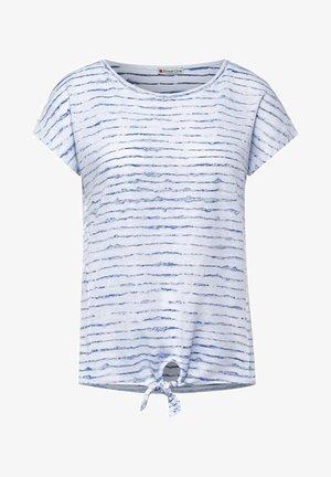MIT KNOTENDETAIL - Print T-shirt - weiß
