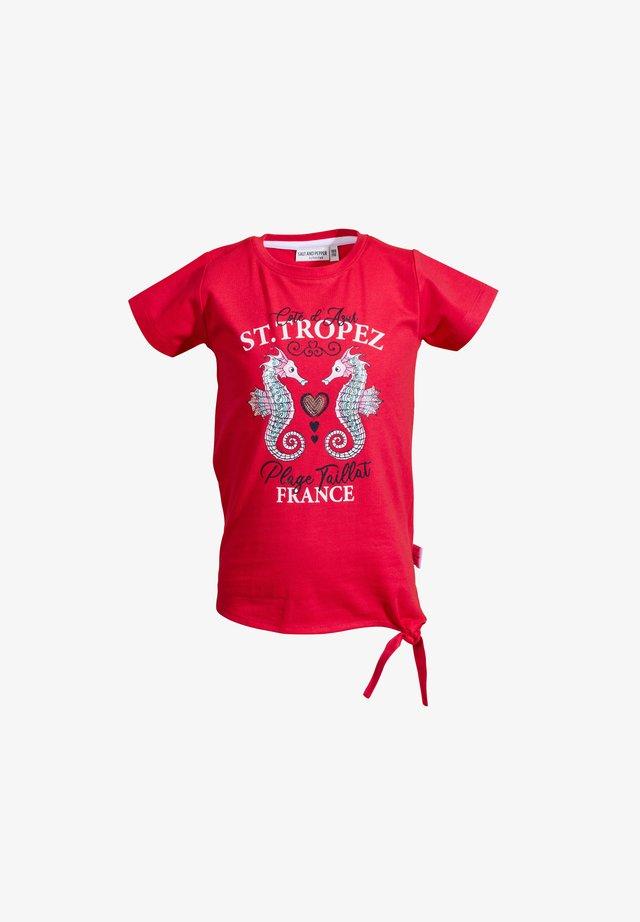 Print T-shirt - lollipop red
