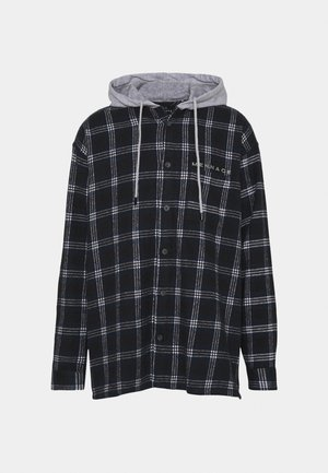 HENNESSEY HOODED CHECK OVERSHIRT - Summer jacket - navy